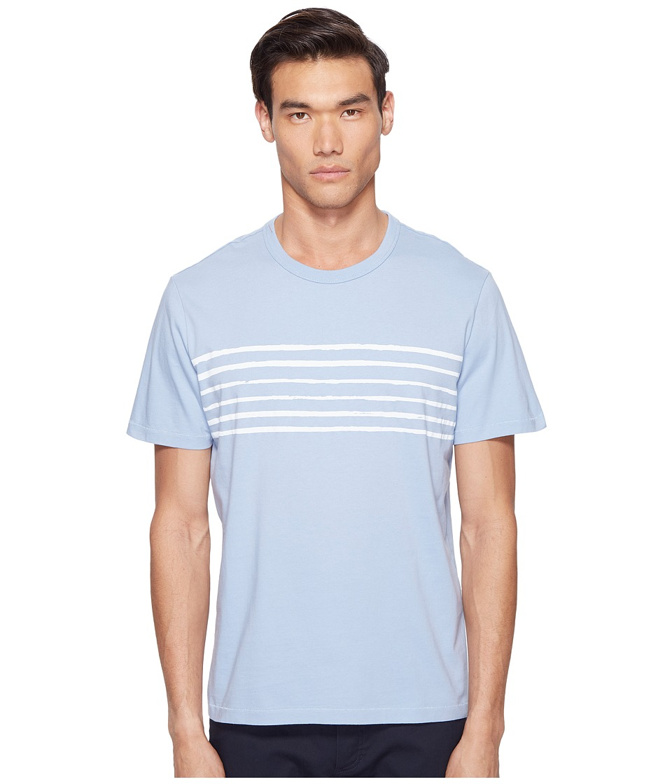 Jack Spade - Striped Printed Tee (Pale Blue) Men's T Shirt