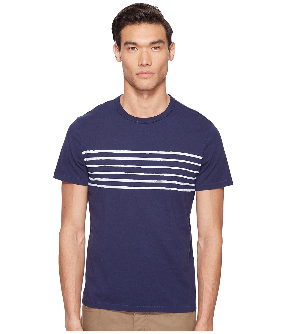 Jack Spade Striped Printed Tee (Dark Navy) Men