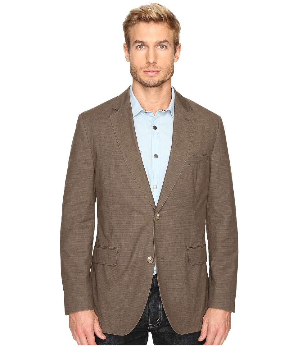 Kroon - Taylor Two-Button Coat (Taupe) Men's Coat