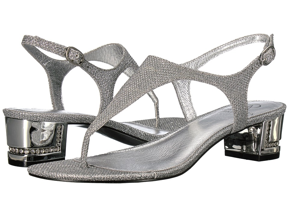 Adrianna Papell - Cassidy (Silver Jimmy Net) Women's 1-2 inch heel Shoes
