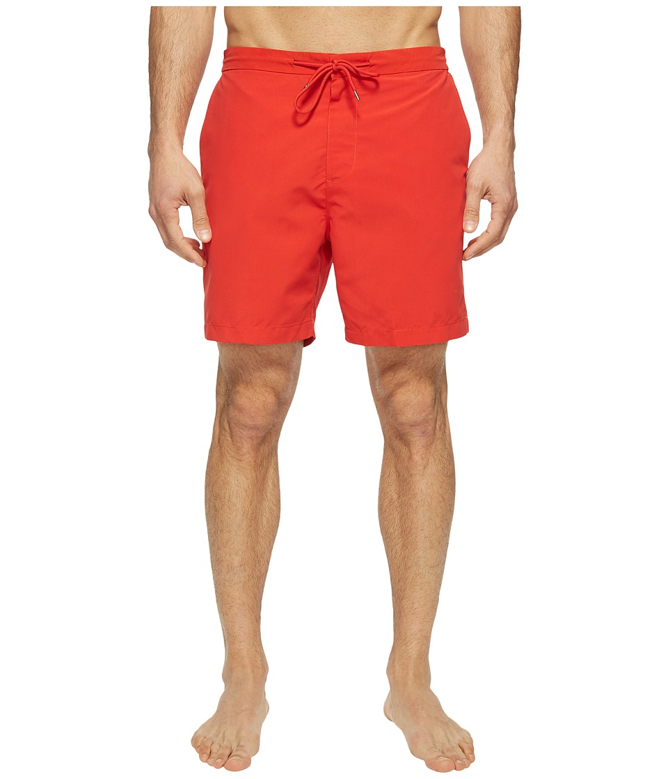 Jack Spade - Elasticated Boardshorts (Red Orange) Men's Swimwear