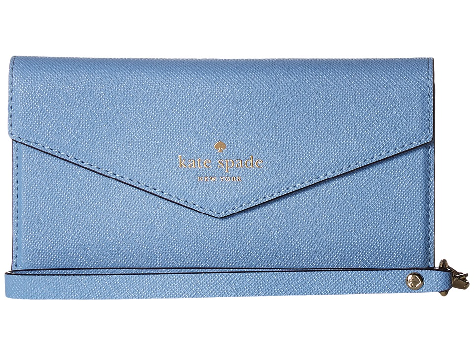 Kate Spade New York - Envelope Wristlet Phone Case for iPhone 7 (Tile Blue) Cell Phone Case