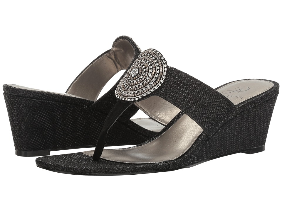 Adrianna Papell - Casey (Black Jimmy Net) Women's Wedge Shoes