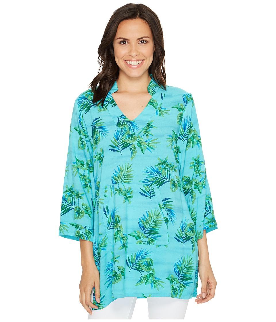 Fresh Produce - Off Shore Mandarin Tunic (Luna Turquoise) Women's Clothing