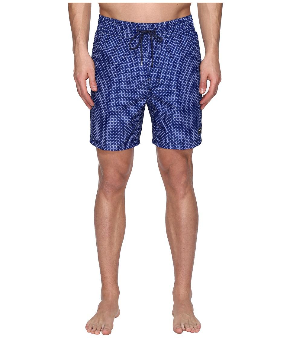 Jack Spade - Mosaic Tile Swim Trunk (Dark Navy) Men's Swimwear