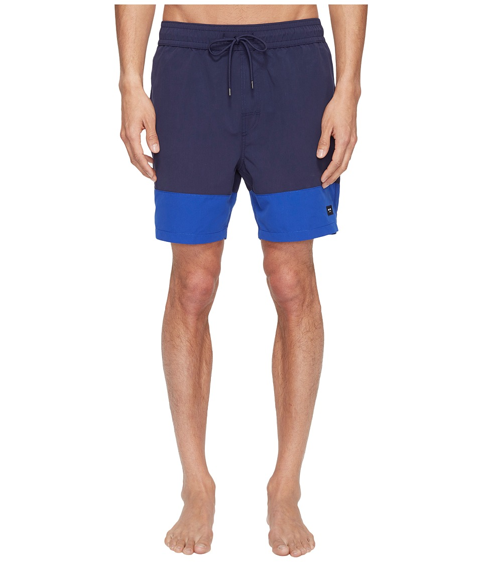 Jack Spade Dipped Swim Trunk (Dark Navy/Royal Blue) Men