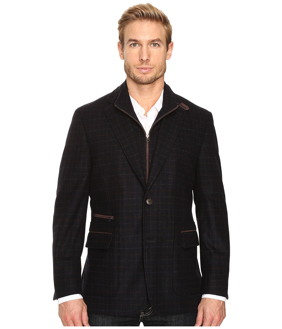 Kroon - P Funk Two-Button Hybrid Blazer (Black) Men's Jacket