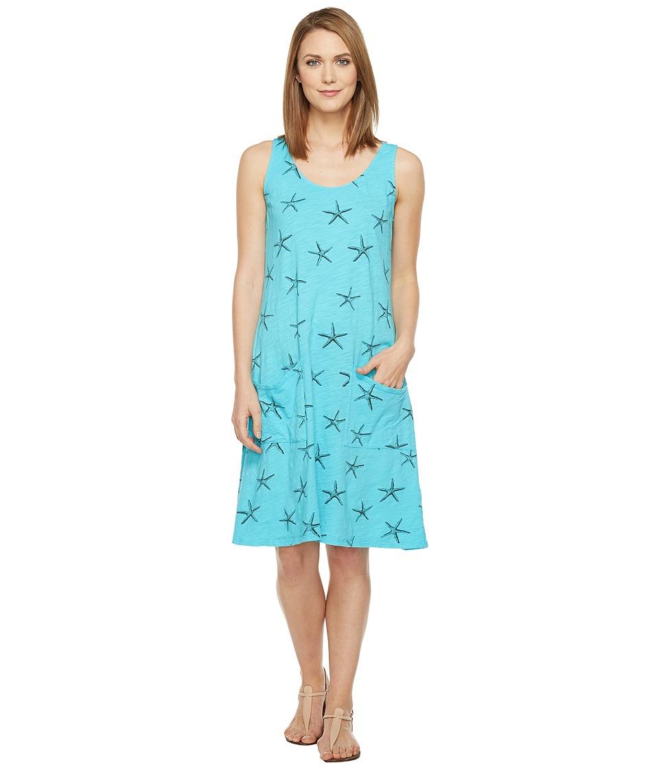 Fresh Produce - Sea Star Drape Dress (Luna Turquoise) Women's Dress