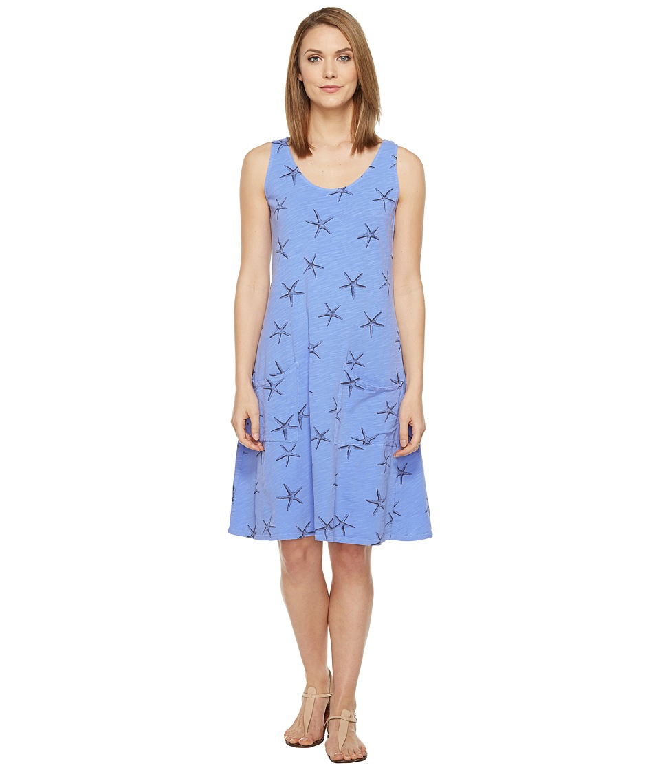 Fresh Produce - Sea Star Drape Dress (Peri Blue) Women's Dress