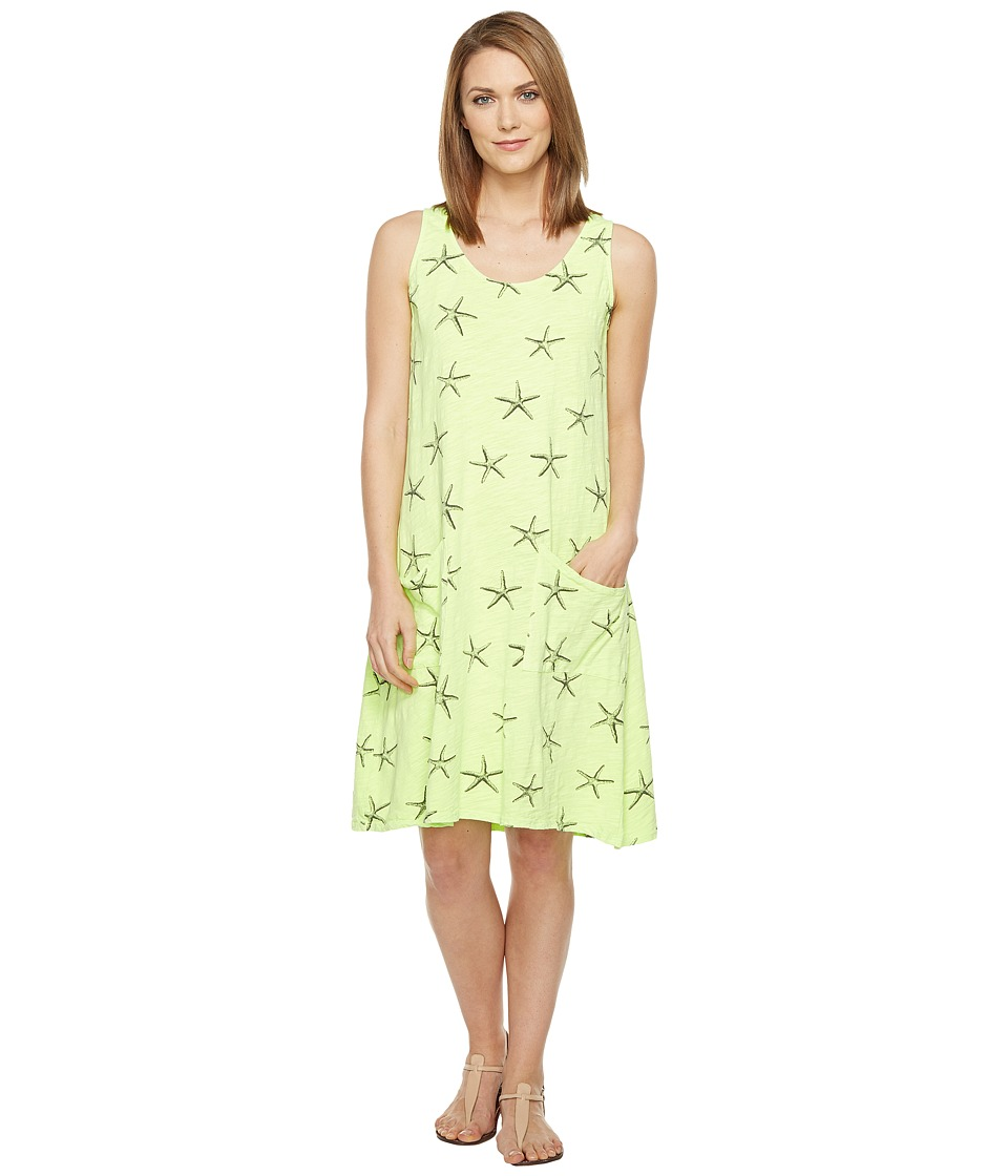 Fresh Produce - Sea Star Drape Dress (Citrus Lime) Women's Dress