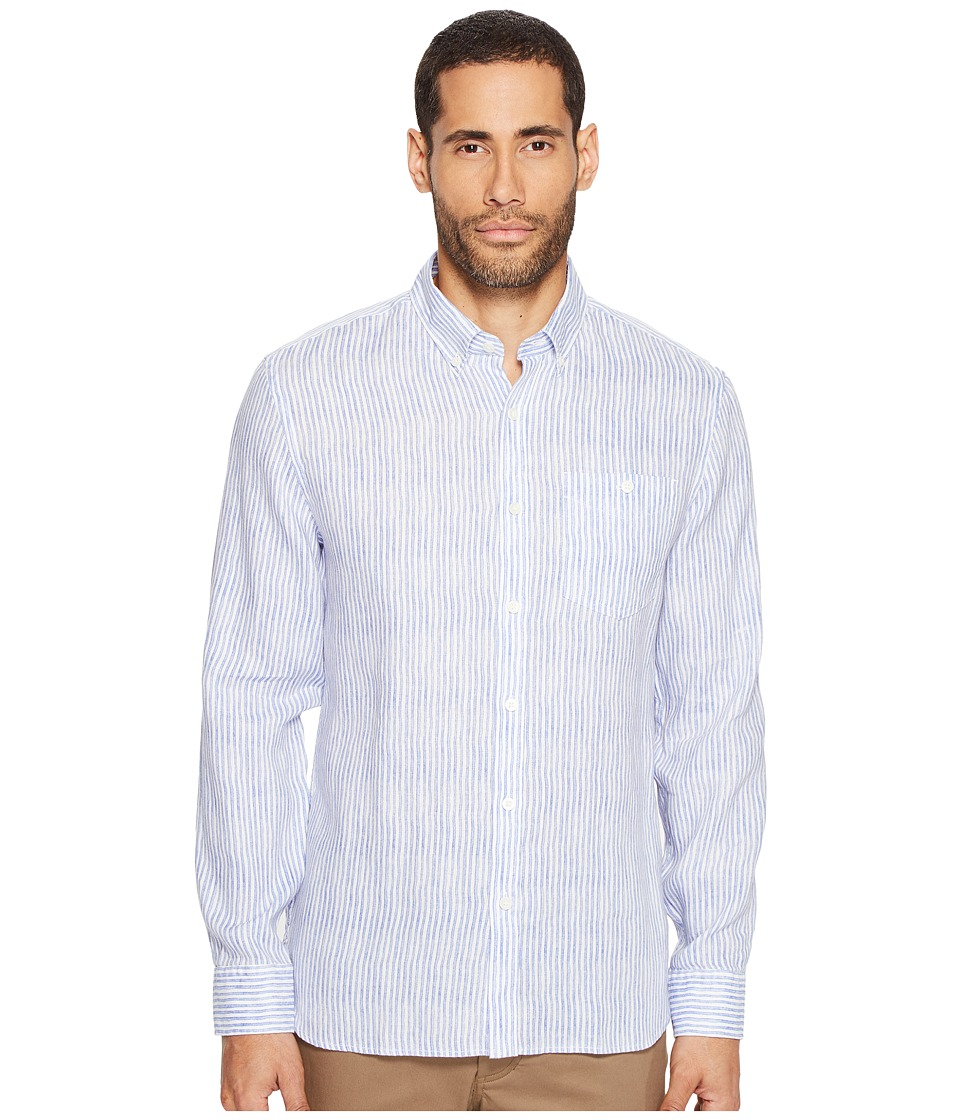Jack Spade - Painted Stripe Linen Shirt (Blue) Men's Clothing