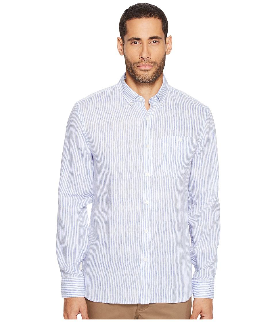 Jack Spade - Painted Stripe Linen Shirt (Blue) Men's Clothing