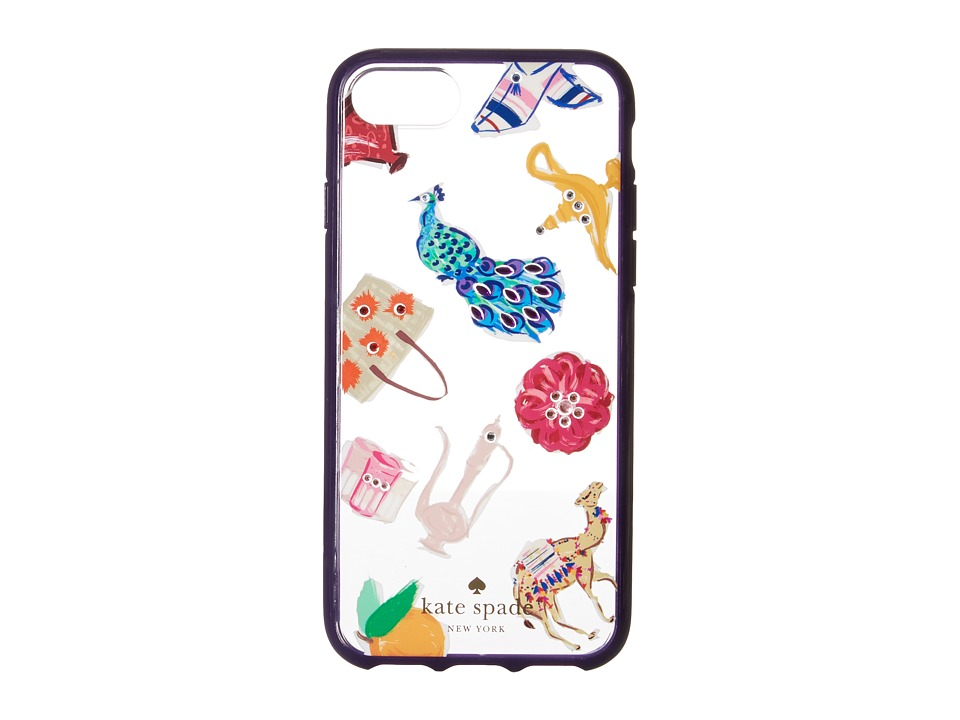 Kate Spade New York - Jeweled Souk Phone Case for iPhone 7 (Clear Multi) Cell Phone Case