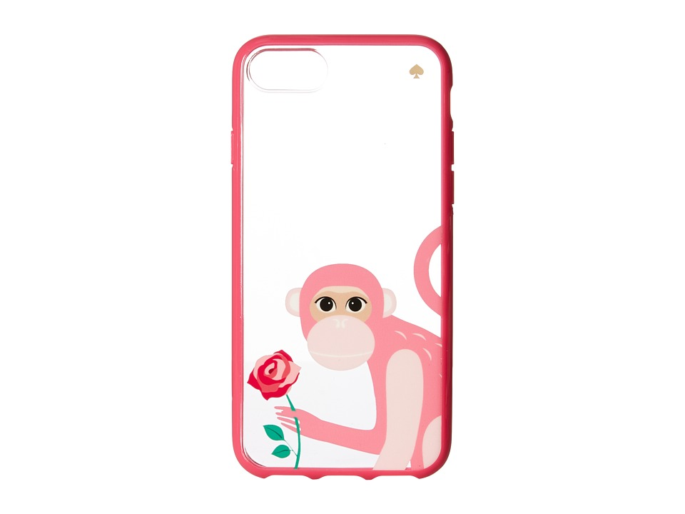Kate Spade New York - Monkey with Rose Phone Case for iPhone 7 (Pink Multi) Cell Phone Case