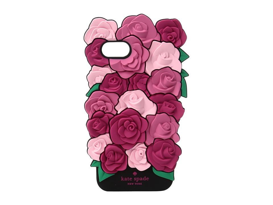 Kate Spade New York - Silicone Roses Phone Case for iPhone 7 (Pink Multi) Cell Phone Case