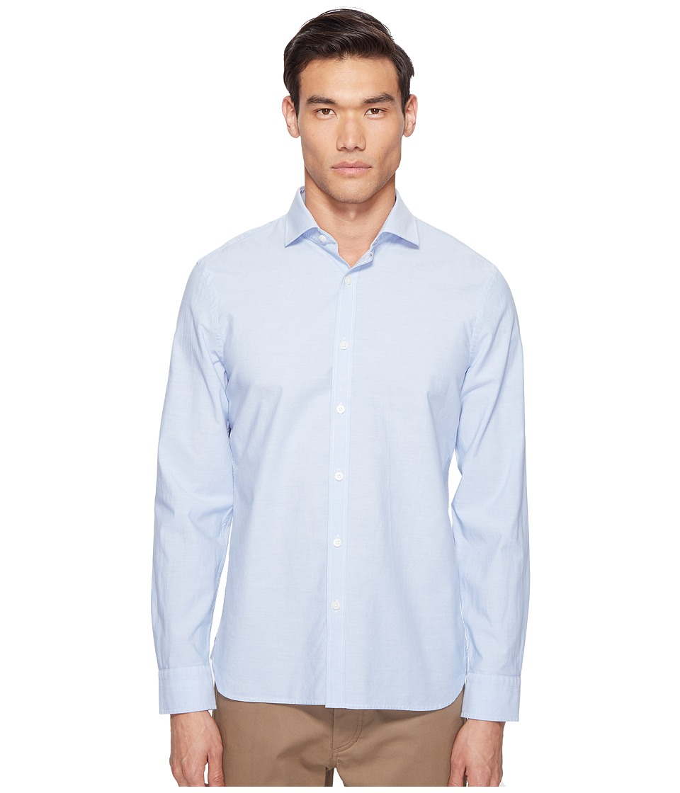 Jack Spade - Chambray Spread Collar Shirt (Pale Blue) Men's Clothing