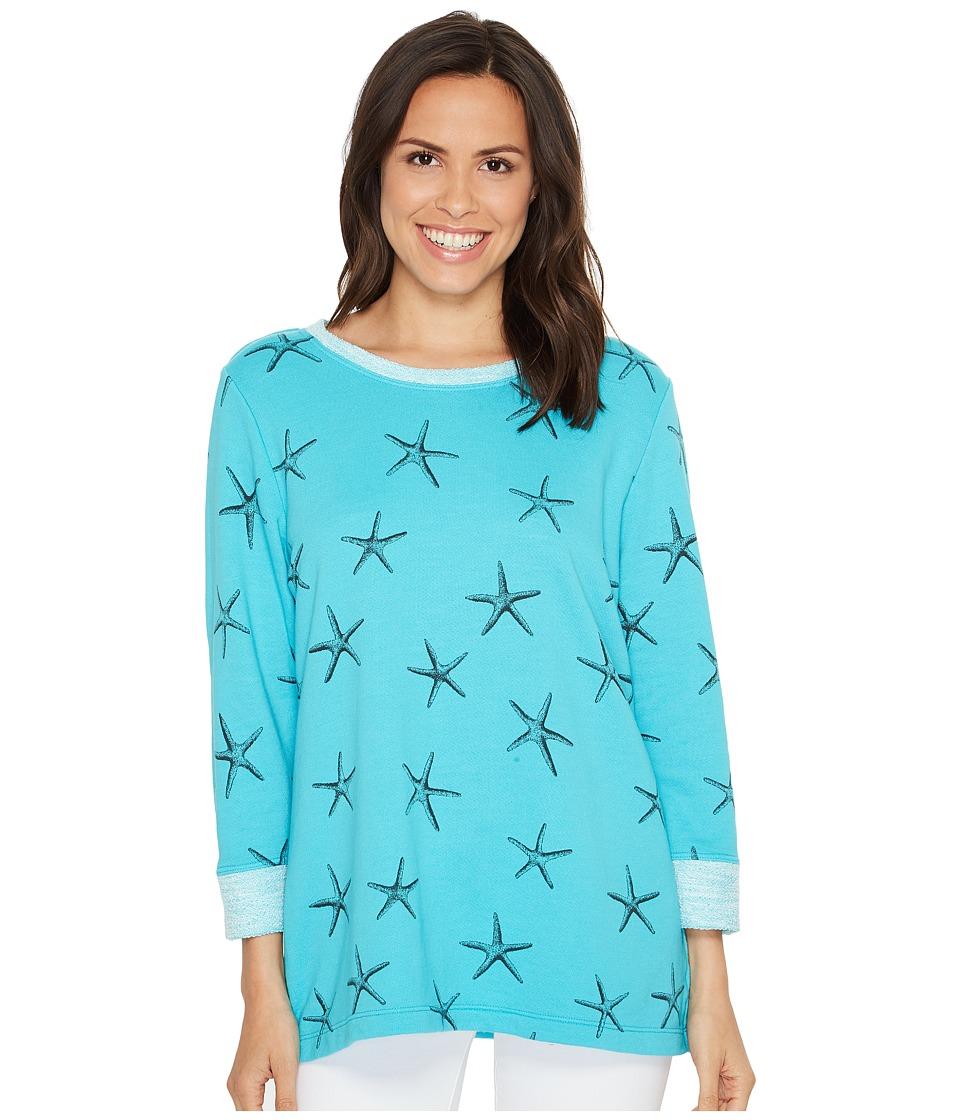 Fresh Produce - Sea Star Sunset Sweatshirt (Luna Turquoise) Women's Sweatshirt