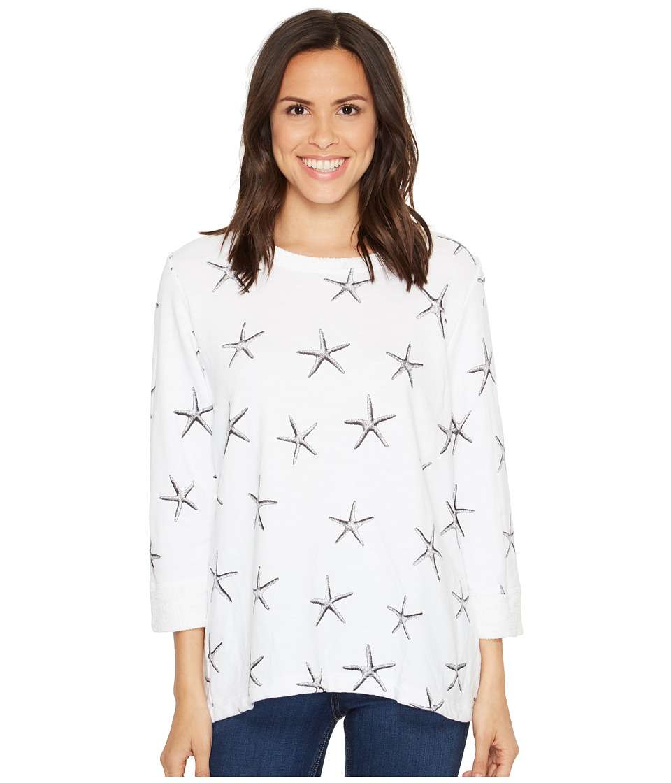 Fresh Produce Sea Star Sunset Sweatshirt (White) Women