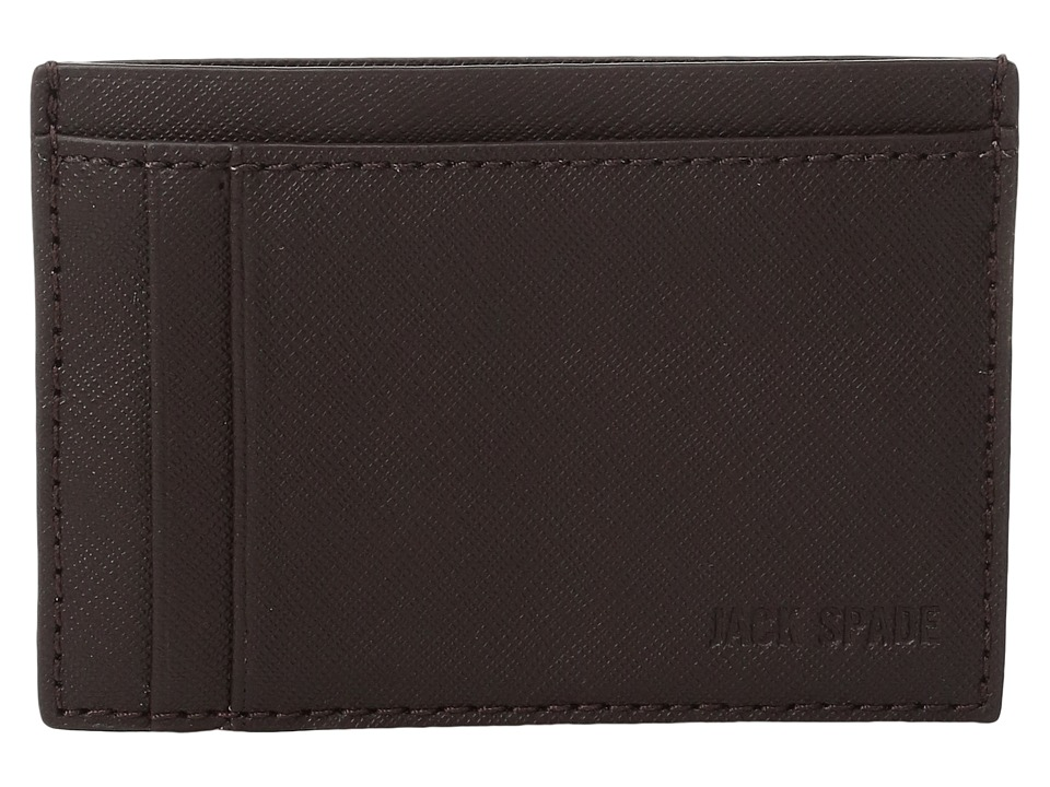 Jack Spade - Barrow Leather ID Wallet (Mahogany) Wallet Handbags