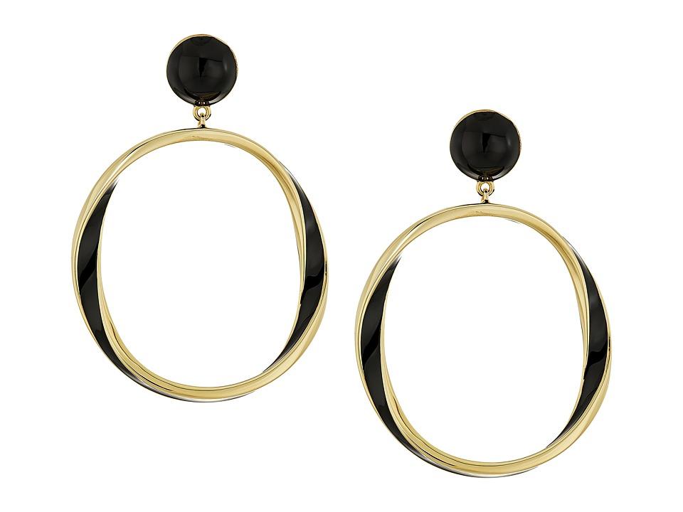 Kate Spade New York - Do The Twist Drop Earrings (Black) Earring