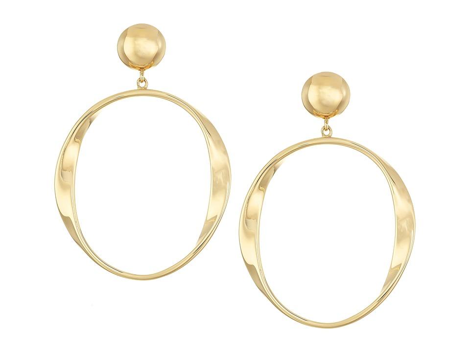 Kate Spade New York - Do The Twist Drop Earrings (Gold) Earring