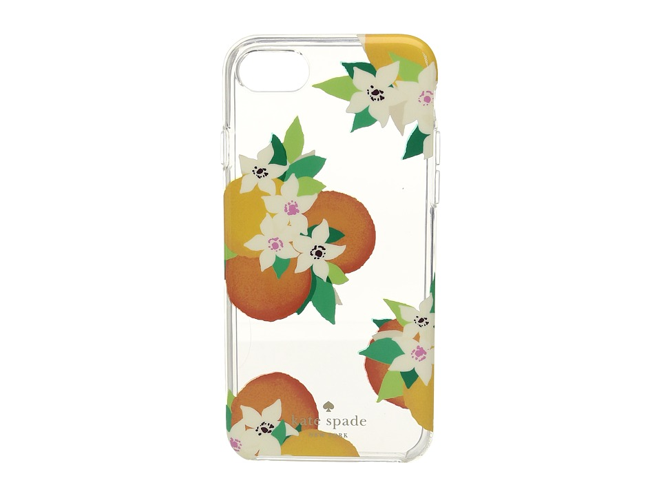 Kate Spade New York - Orange Blossoms Phone Case for iPhone(r) 7 (Clear Multi) Cell Phone Case