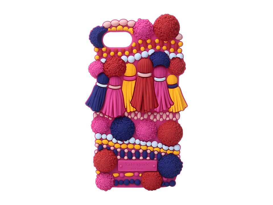 Kate Spade New York - Silicone Pom Pom Phone Case for iPhone 7 (Multi) Cell Phone Case