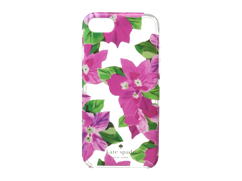 Kate Spade New York - Bougainvillea Phone Case for iPhone(r) 7 (Clear Multi) Cell Phone Case