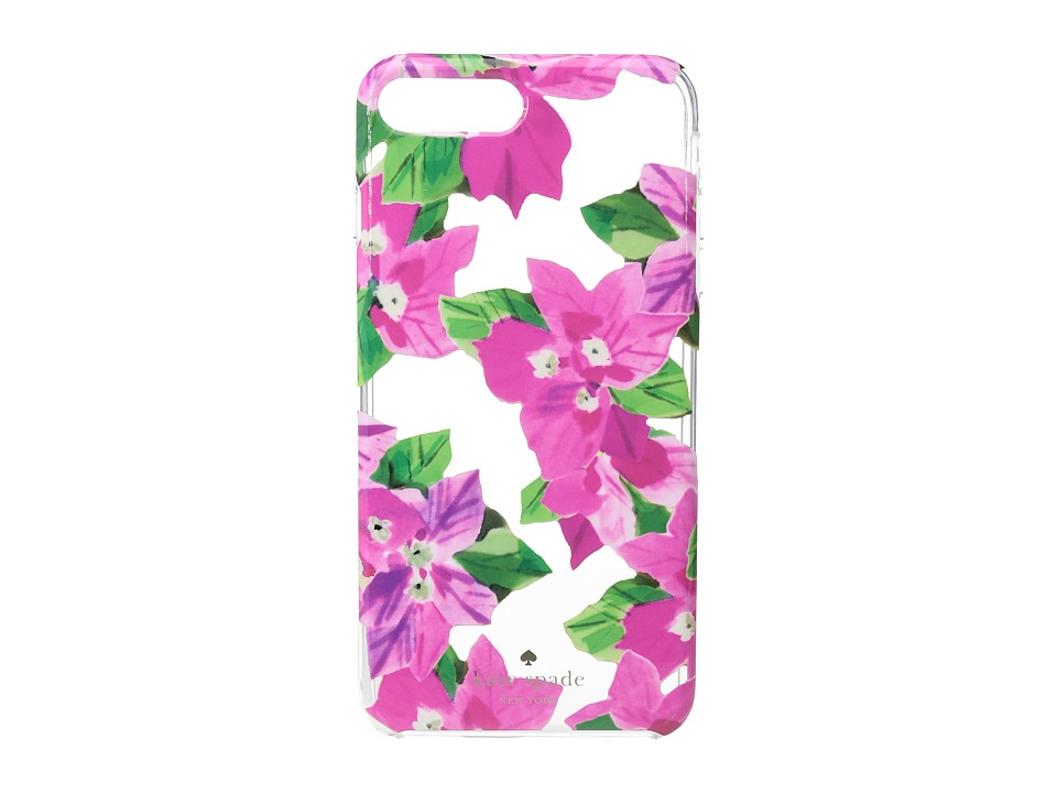 Kate Spade New York - Bougainvillea Phone Case for iPhone(r) 7 Plus (Clear Multi) Cell Phone Case