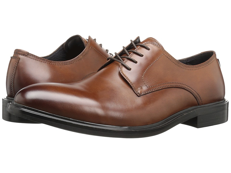 Kenneth Cole New York - 4 The Record (Cognac) Men's Lace Up Cap Toe Shoes