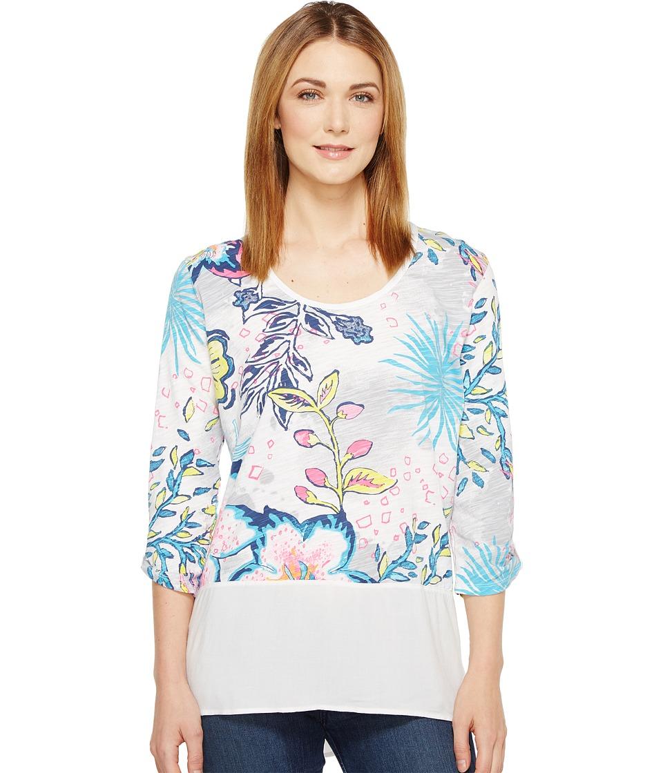 Fresh Produce - Cabana Bright Windfall Top (White) Women's Clothing