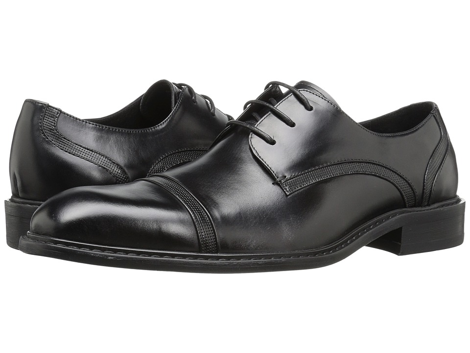 Kenneth Cole New York - Re-Leave-D (Black) Men's Lace Up Cap Toe Shoes
