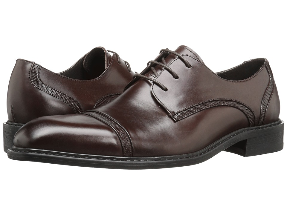 Kenneth Cole New York - Re-Leave-D (Brown) Men's Lace Up Cap Toe Shoes