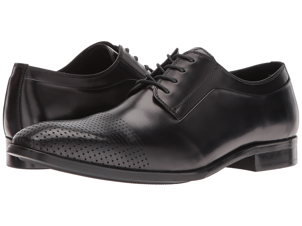 Kenneth Cole New York - Course Of Action (Black) Men's Lace Up Cap Toe Shoes