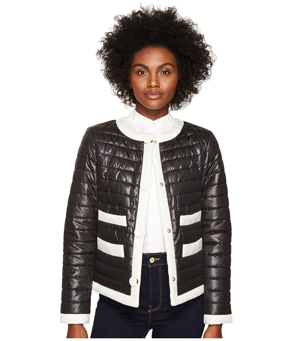 Kate Spade New York - 22 Quilted Contrast Binding Jacket (Black) Women's Coat