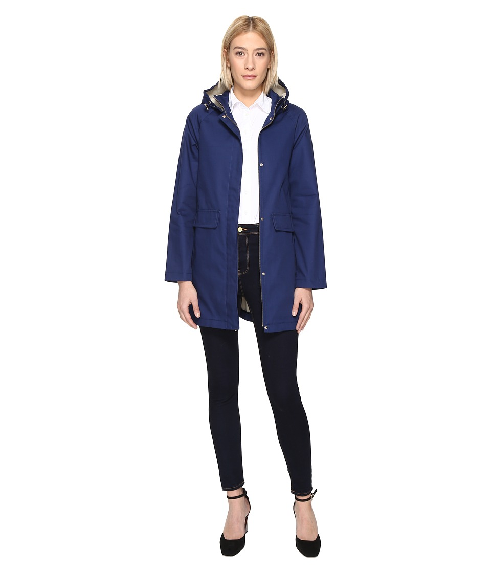Kate Spade New York - 33 Bonded Cotton Anorak (New Navy) Women's Coat