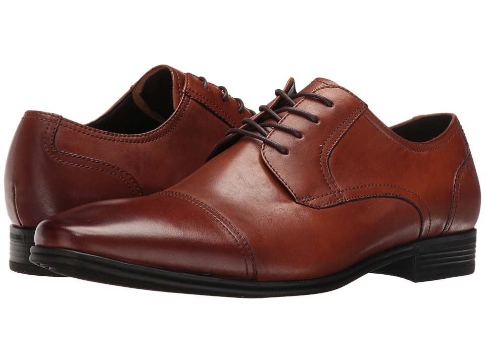 Kenneth Cole Reaction - In a Min-Ute (Cognac) Men's Lace up casual Shoes