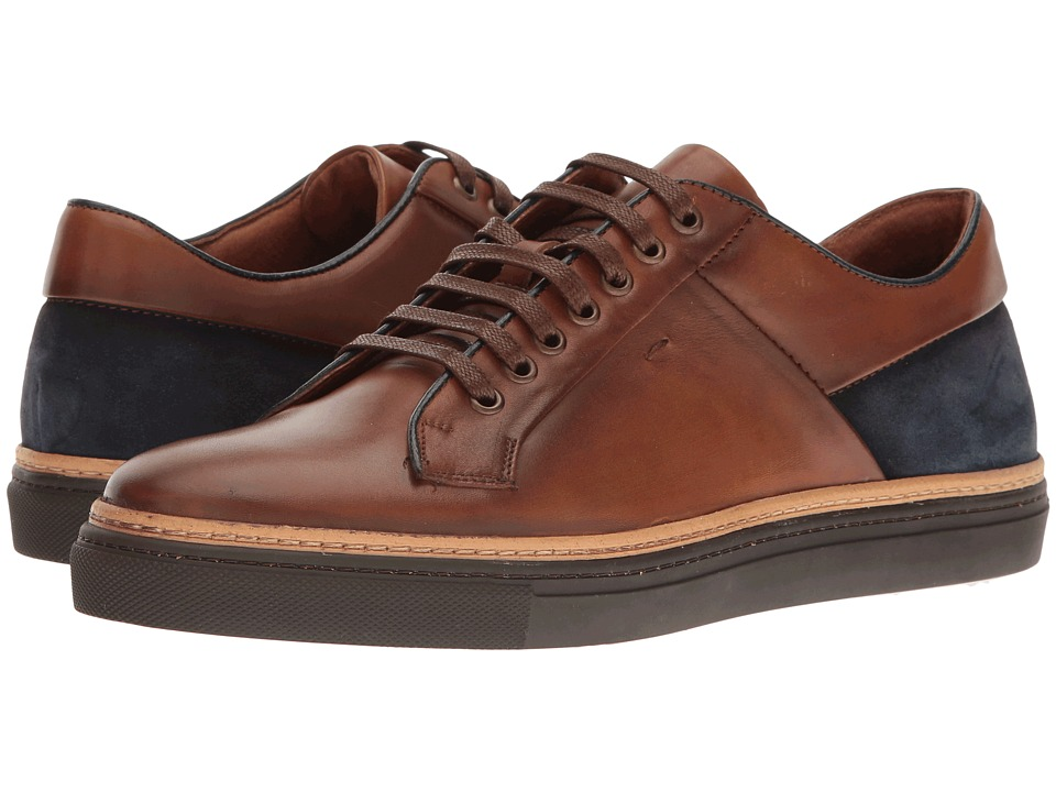 Kenneth Cole New York - Prem-Ise (Cognac) Men's Lace Up Cap Toe Shoes