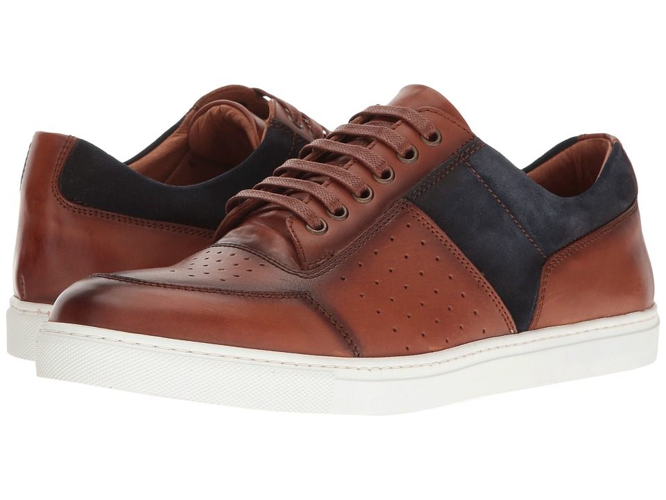 Kenneth Cole New York - Prem-Ier (Cognac) Men's Lace Up Cap Toe Shoes