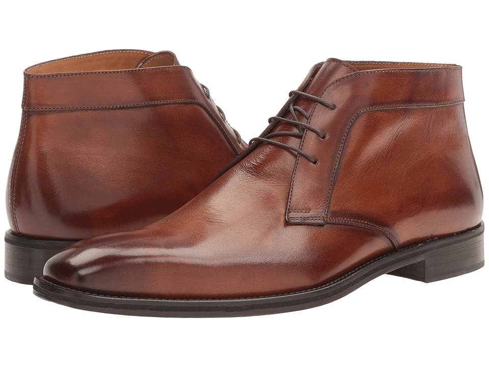 Kenneth Cole New York - Noble Act (Cognac) Men's Lace Up Cap Toe Shoes
