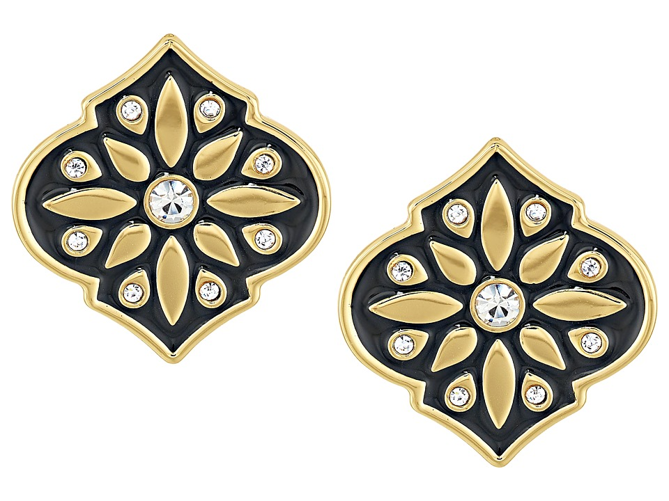 Kate Spade New York - Moroccan Tile Statement Studs Earrings (Black) Earring