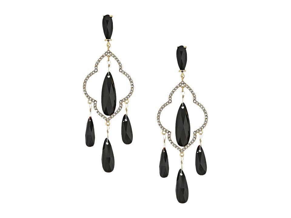 Kate Spade New York - Lantern Gems Chandelier Earrings (Black) Earring