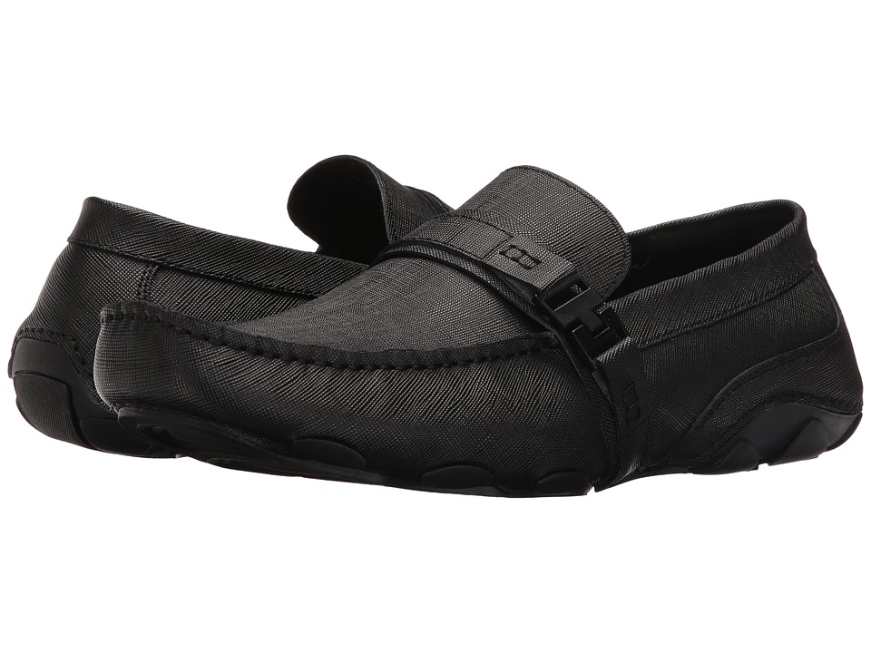 Kenneth Cole Reaction - Toast 2 Me (Black Saffiano) Men's Slip on Shoes