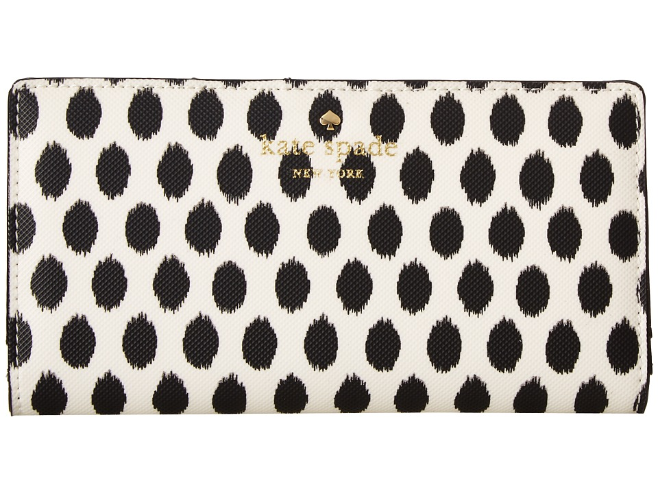 Kate Spade New York - Harding Street Ikat Dot Stacy (Black Multi) Wallet