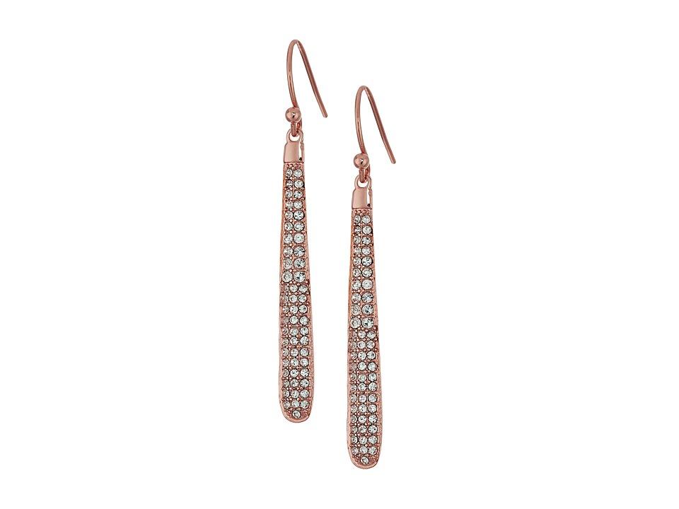 Kate Spade New York - Shine On Pave Linear Earrings (Blush) Earring