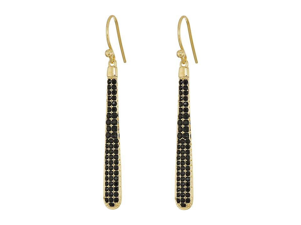 Kate Spade New York - Shine On Pave Linear Earrings (Jet) Earring