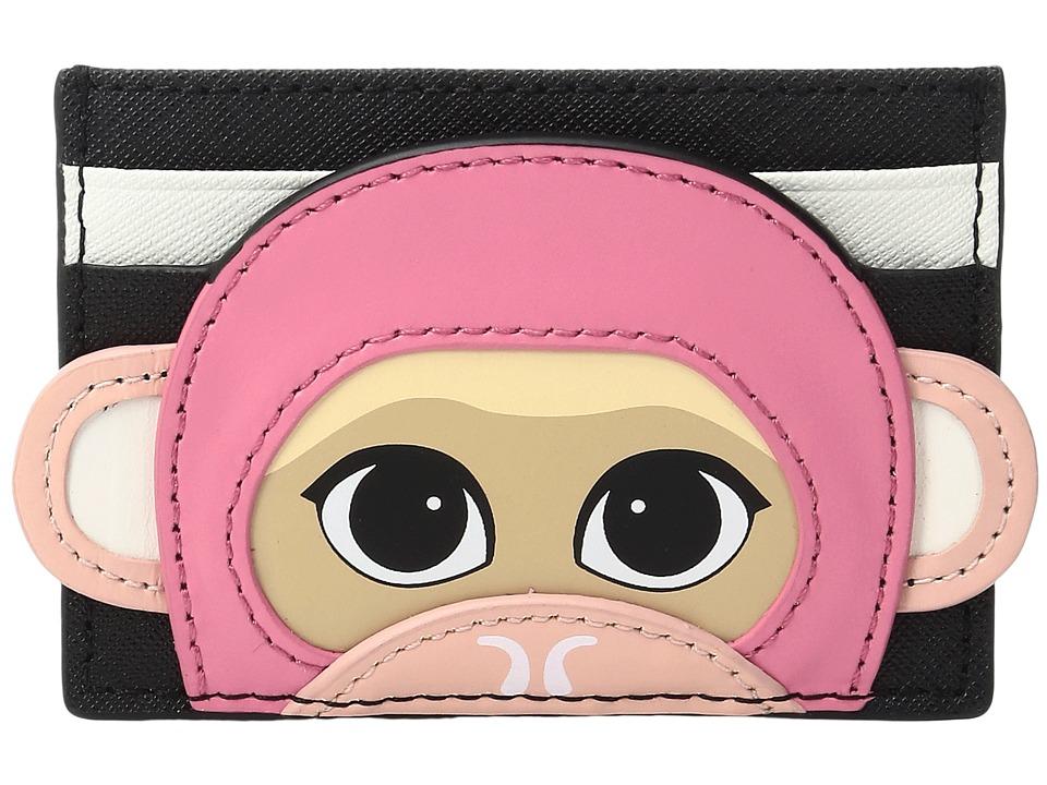 Kate Spade New York - Rambling Roses Monkey Card Case (Multi) Credit card Wallet