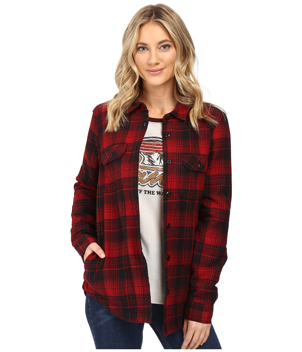 Vans - White Owl Flannel (Red Dahlia) Women's Coat