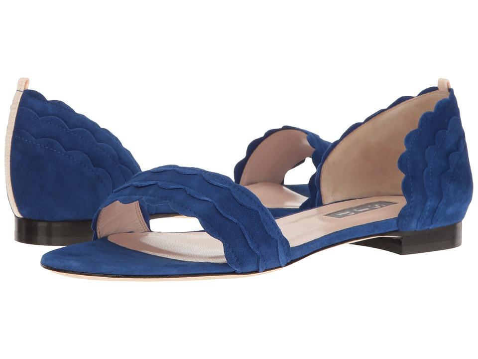 SJP by Sarah Jessica Parker - Bobbie Flat (Skyline Blue Suede) Women's Shoes