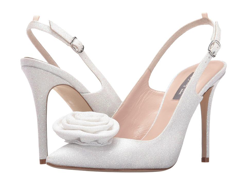 SJP by Sarah Jessica Parker - Contessa (White Flitter Glitter) Women's Shoes